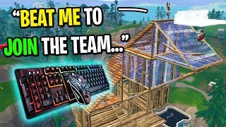 I tried out for the BEST Fortnite console clan using keyboard and mouse... (I CHEATED!)