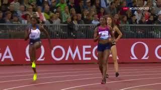 ELAINE THOMPSON RUNS DOWN THE GB 4X100M WOMEN - IAAF Diamond League Zurich 2017