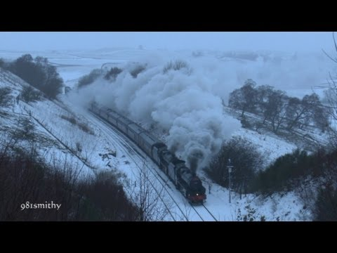 LMS 44871 & 45407 on The Winter Cumbrian Mountain Express on Sat 26th January 2013.