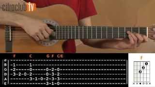 videoclase Let It Be (aula de violão simplificada)