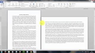 Tutorial Word: Como poner en horizontal solo una pagina. Poner horizontal una pagina.