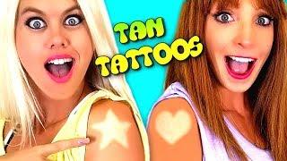 Cool Summer Tattoos & Lipstick Hacks & Challenge!!! width=