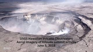 Kilauea volcano: Partial crater collapse (USGS footage)