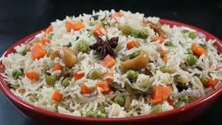 Vegetable pulao in cooker | vegetable pulao making in Tamil | white vegetable briyani |