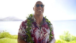 Dwayne's Special Return to Hawaii for Hobbs & Shaw Press