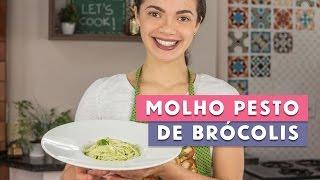 Receita - Molho Pesto de Brócolis