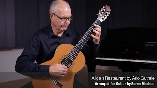 Alice´s Restaurant (Arlo Guthrie) - Danish Guitar Performance - Soren Madsen