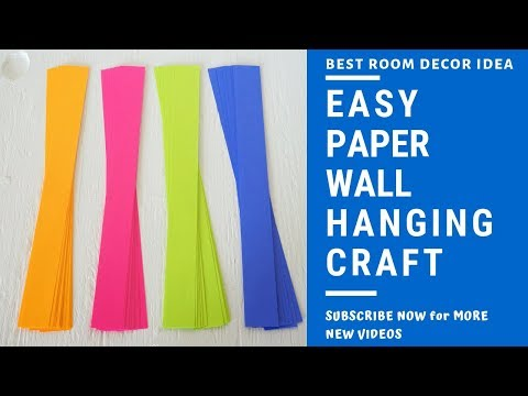 Download Thumbnail For Paper Wall Hanging Craft At Home Easy Diy