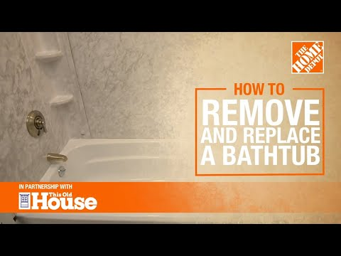 How to Remove and Replace a Bathtub