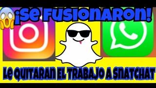 Whatsapps E Instagram Se Fusionan? | ¿Snatchat se queda sin trabajo?