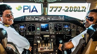 Piloting the PIA Boeing 777 out of Karachi