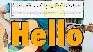 Adele - Hello (fingerstyle cover, tab)