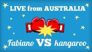 Fabiano VS kangaroo - LIVE from Australia