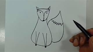 Belajar cara menggambar binatang serigala dengan mudah