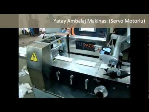 Elitpack Yatay Ambalaj Makinası (Servo Motorlu)