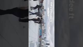 """Maite Perroni & Cali y El Dandee - Grabando de videoclip """"Loca"""" 12/19"""