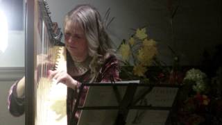 Diane Schneider playing Simple Gifts on Harp