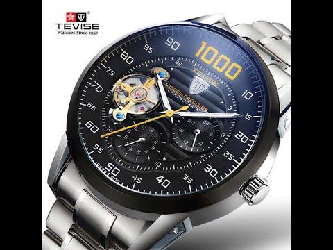 Homens mecânicos do Relógio TEVISE Relógios Automáticos dos homens Relógio Masculino de Negócios de Moda de Luxo À Prova D' Água relógio de Pulso relogio masculino