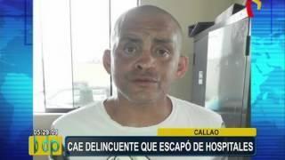 Callao: capturan a delincuente que escapó de hospitales