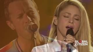 Coldplay ft  Shakira - Yellow live at Global Citizen Festival Hamburg width=