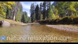 "[AMAZING 4K] ""Autumn Mountain Stream"" Nature Video Screensaver Ultra High Def"