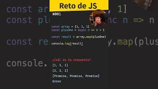 ⚠️ CUIDADO al mezclar Async con código Síncrono. ¿Qué pasa? (Reto Javascript) #shorts