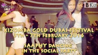 KIZOMBA GOLD DUBAI FESTIVAL 2016: SAAPHY dancing in the social party