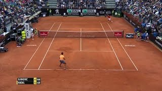 Outrageous set point between Djokovic and Nadal in Rome - 2016 Internazionali BNL d'Italia