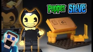 Bendy and the Ink Machine Drafting Table Playset w/ Bendy Mini set UNBOXING Lego Construction BATIM
