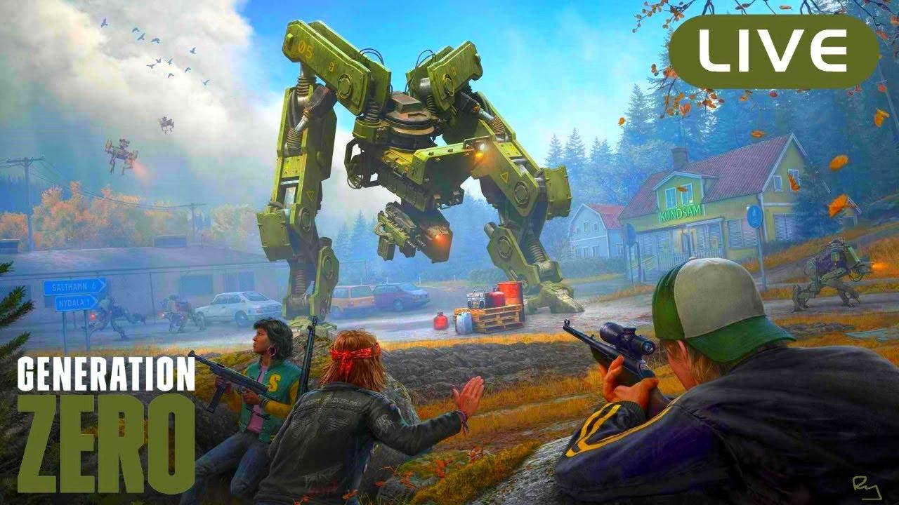 Ry Wilson - LIVE:🤖Generation Zero🤖 Survival Multiplayer (That's One YUUUGE Robot!!)