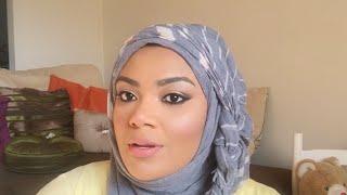 Hijab tutorial with a side braid. xxx width=