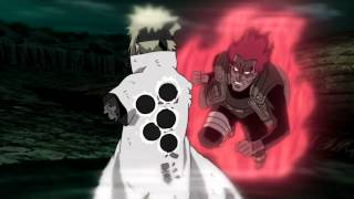 8 gates Guy vs six paths Madara - Naruto shippuden Amv - Painkiller