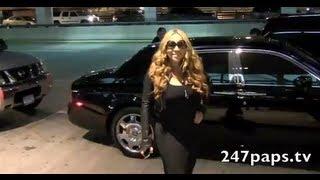 Mariah Carey Departing from JFK Airport in New York City