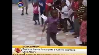 Visita surpresa da Banda do Panda ao Centro Orfanato Casa da Alegria, em Maputo (Moçambique)
