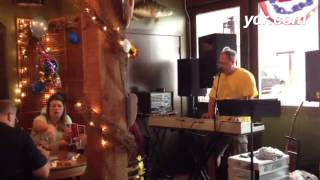 "Kurt Benit covers ""Happy"" for the now indoor Beach Party at Mudhook. #iloveyorkcity #flipsidepa"