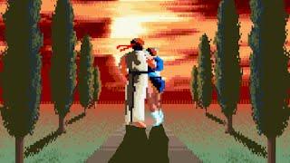 Ryu y Chun Li vs M.Bison S.F.II + Final (Sprites)
