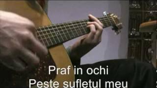 Praf in ochi - Peste sufletul meu chitara acustica