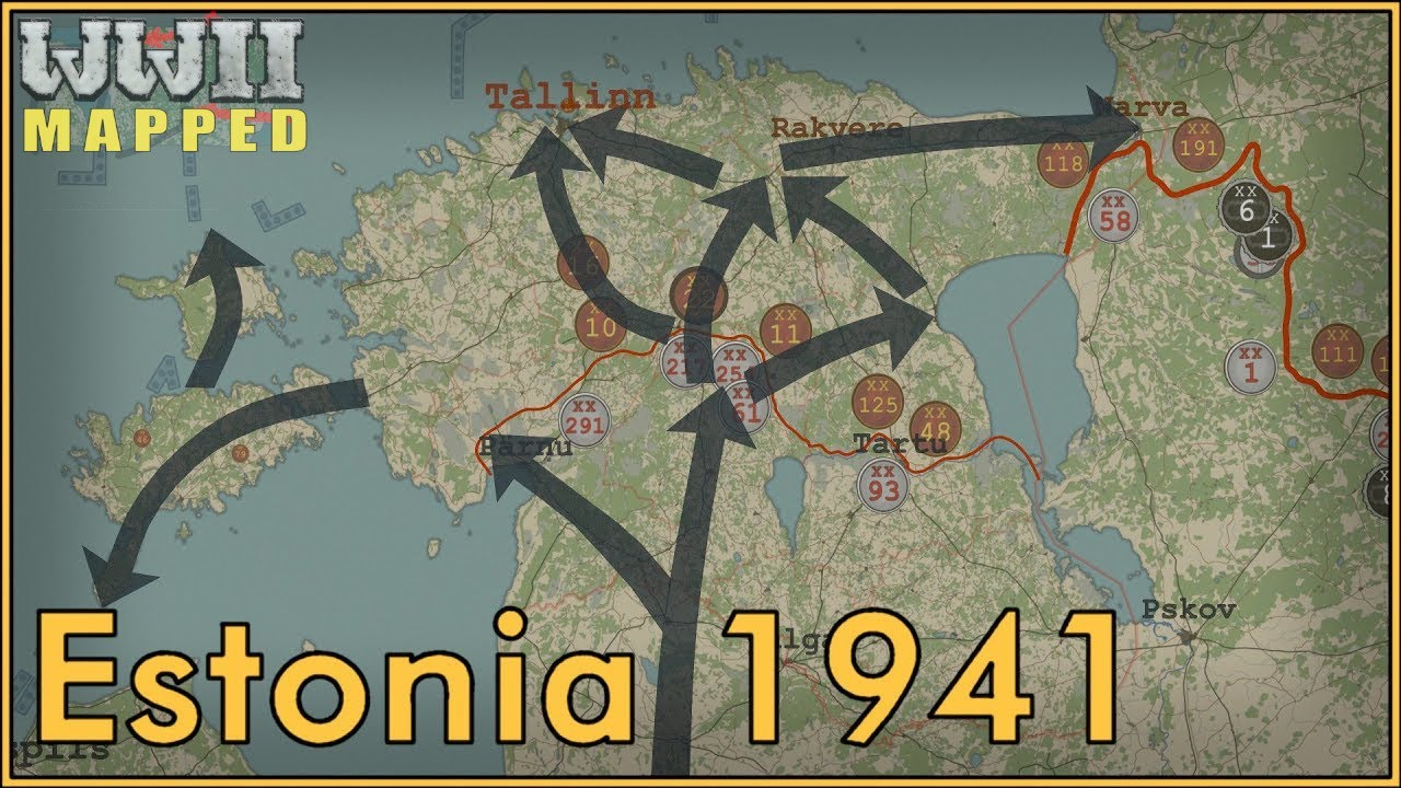 WW2 in Estonia Animated : 1941
