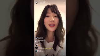 소녀시대 태연 인스타그램 라이브 / 골든디스크 이하이 언급 한숨 무대 샤이니 종현 추모