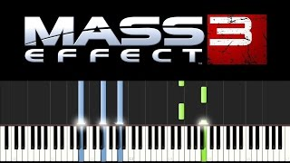 Mass Effect 3 - Leaving Earth (Piano Tutorial - Synthesia) [+ sheets]