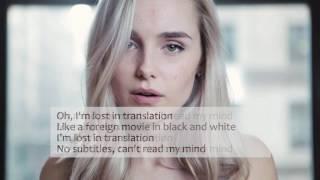 Alice Kristiansen - Lost In Translation ( Lyrics )