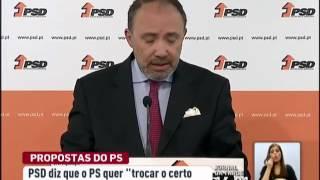 PSD diz que o PS quer  trocar o certo pelo incerto