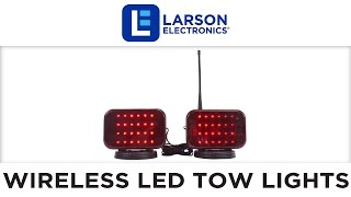 Wireless LED Tow Lights - Battery Operated - 30 Foot Wireless Operating Range - Magnet Mount