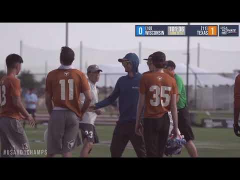 Video Thumbnail: 2019 College Championships, Men's Pre-Quarter: Texas vs. Wisconsin