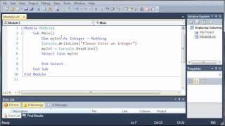 Visual Basic Tutorial - 24 - Select Case width=