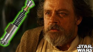 Where Is Luke Skywalker's GREEN LIGHTSABER REVEALED?!