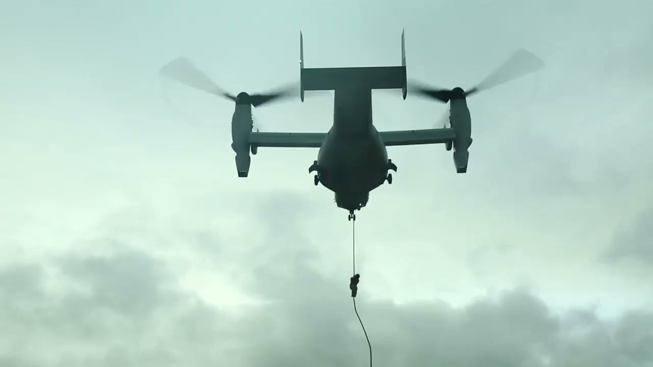 Weapons Company Marines Conduct Aerial Fast Rope Training