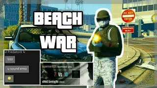 "(GTA ONLINE) BEACH WAR ""IM TRASH"" RIP MY OPPS"