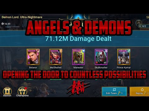 Angels and Demons Clan Boss Team I Raid Shadow Legends