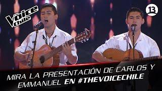 The Voice Chile | Carlos Gajardo y Emmanuel Hernández (Jibano) - Titanium